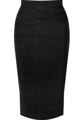 Hervé Léger - Bandage Pencil Skirt - Black