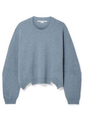 Stella McCartney - Asymmetric Wool And Alpaca-blend Sweater - Blue