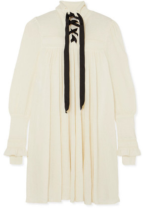 Philosophy di Lorenzo Serafini - Lace-up Knitted Dress - White
