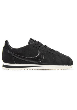 Nike - Classic Cortez Leather-trimmed Suede Sneakers - Black