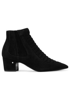 Laurence Dacade - Sully Quilted Suede Ankle Boots - Black
