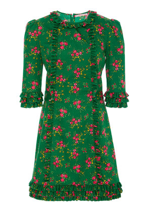 The Vampire's Wife Cate Floral Cotton Mini Dress