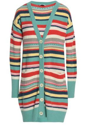 Vilshenko Woman Striped Wool And Cashmere-blend Cardigan Multicolor Size L