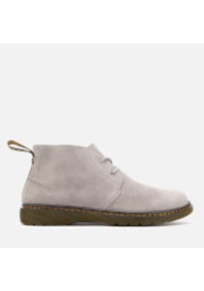 Dr. Martens Men's Ember Bronx Suede Lace Low Boots - Mid Grey - UK 10 - Grey
