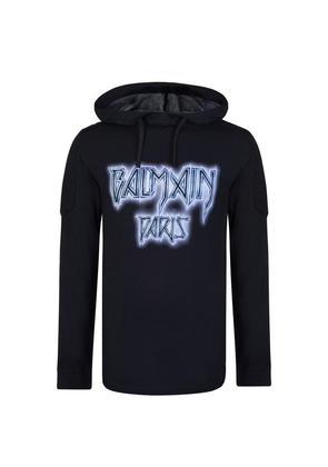 BALMAIN Cosmic Long Sleeved Hooded T Shirt