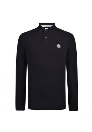 STONE ISLAND Long Sleeved Polo Shirt