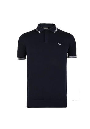 EMPORIO ARMANI Knit Eagle Logo Polo Shirt
