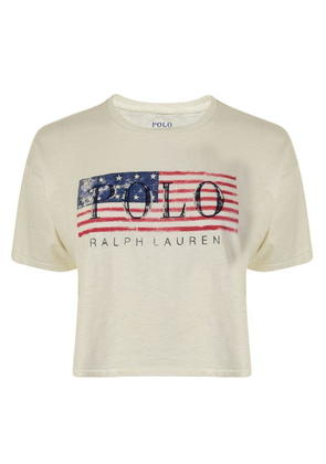 POLO RALPH LAUREN Flag Cropped T Shirt