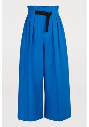 Wide belted pants