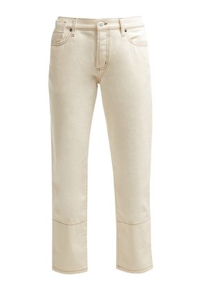 Marni - Mid Rise Cropped Jeans - Womens - Cream