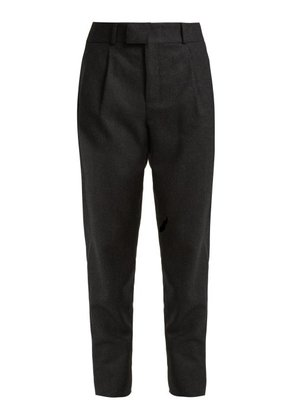 Saint Laurent - Signature Pinstripe Wool Trousers - Womens - Black