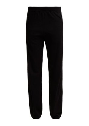 Givenchy - Logo Embroidered Cashmere Track Pants - Womens - Black