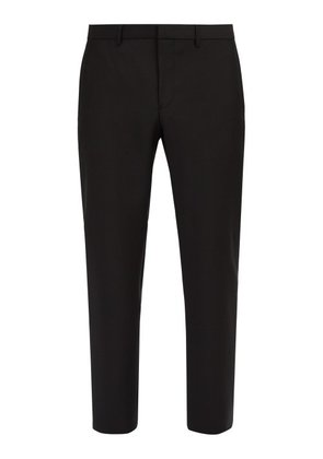 Givenchy - Side Striped Wool Blend Trousers - Mens - Black