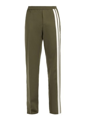 Valentino - Side Stripe Track Pants - Mens - Green