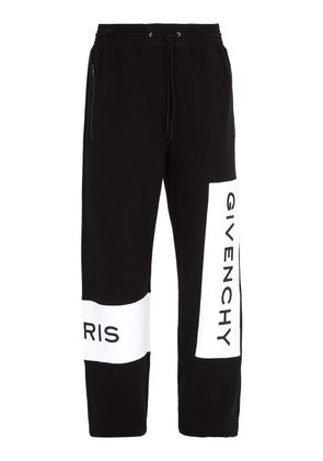 Givenchy - Logo Embroidered Cotton Track Pants - Mens - Black