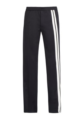 Valentino - Contrast Side Stripe Track Pants - Mens - Navy
