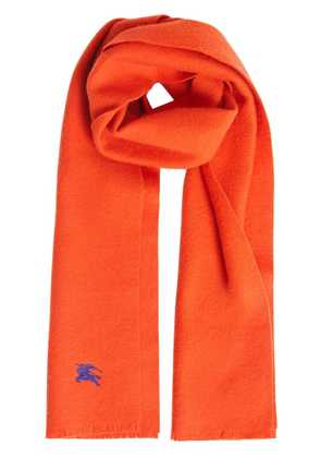 Burberry Embroidered Felted Wool Scarf - Orange