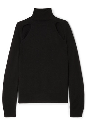 L'Agence - Philo Cutout Wool And Cashmere-blend Turtleneck Sweater - Black