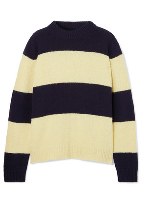 Chinti and Parker - Sombrero Striped Wool-blend Sweater - Navy