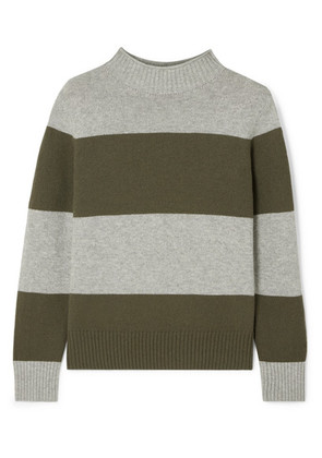 J.Crew - Striped Wool-blend Sweater - Green