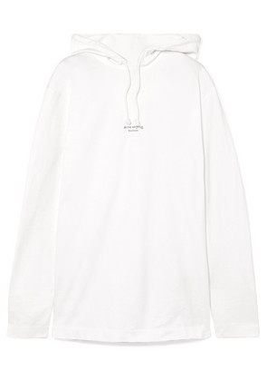 Acne Studios - Lilly Printed Cotton-jersey Hooded Top - White