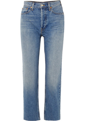 RE/DONE - Originals High-rise Stove Pipe Straight-leg Jeans - Mid denim
