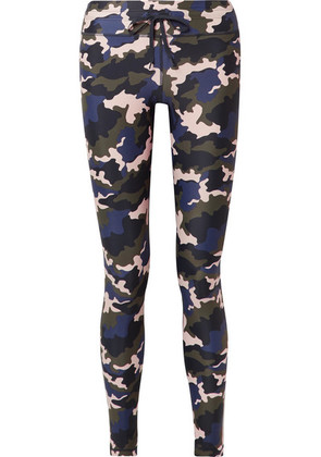 The Upside - Camouflage-print Stretch Leggings - Army green