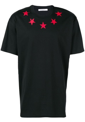 Givenchy contrast star T-shirt - Black