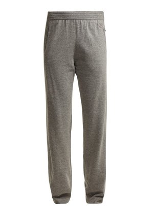 Givenchy - Logo Embroidered Cashmere Track Pants - Womens - Grey