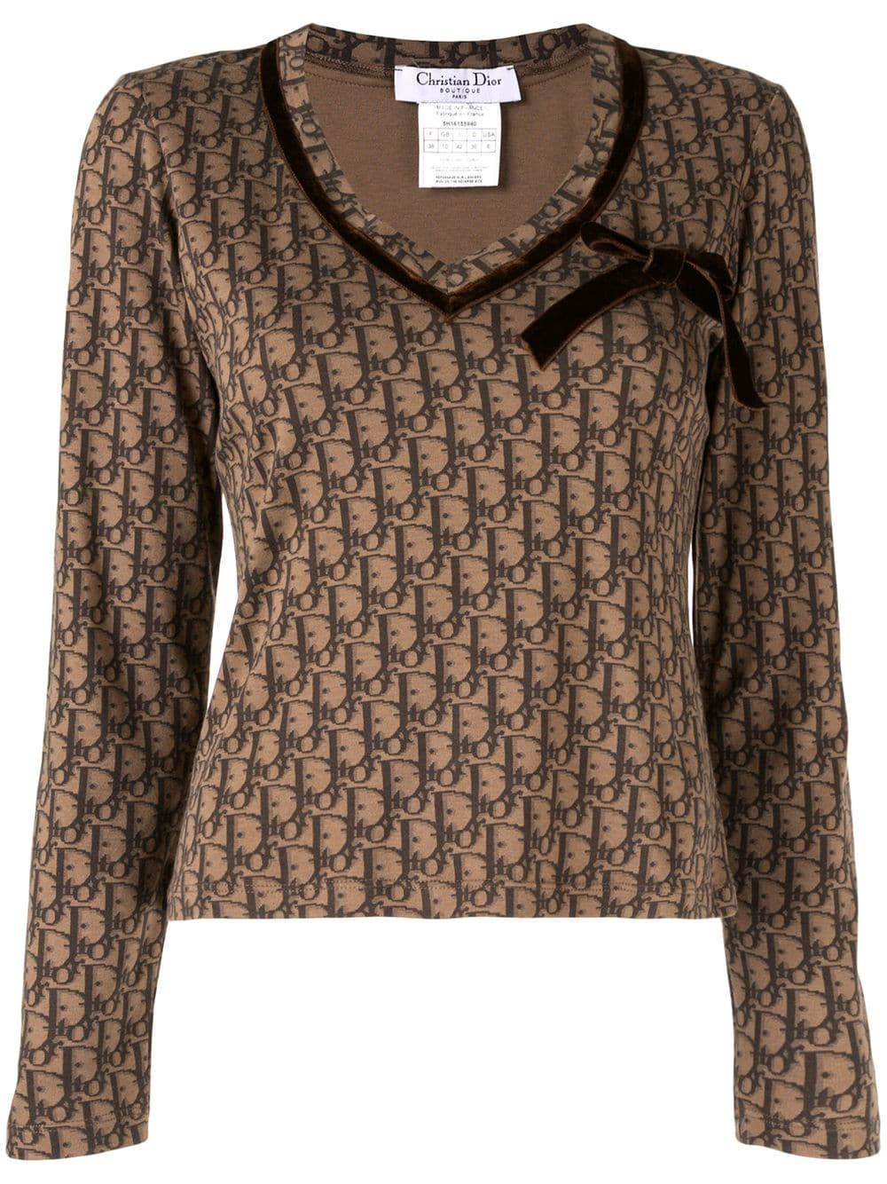 bbe5f770617e christian-dior-vintage -multi-patterned-top-brown-farfetch-com-photo.jpg 1550847184