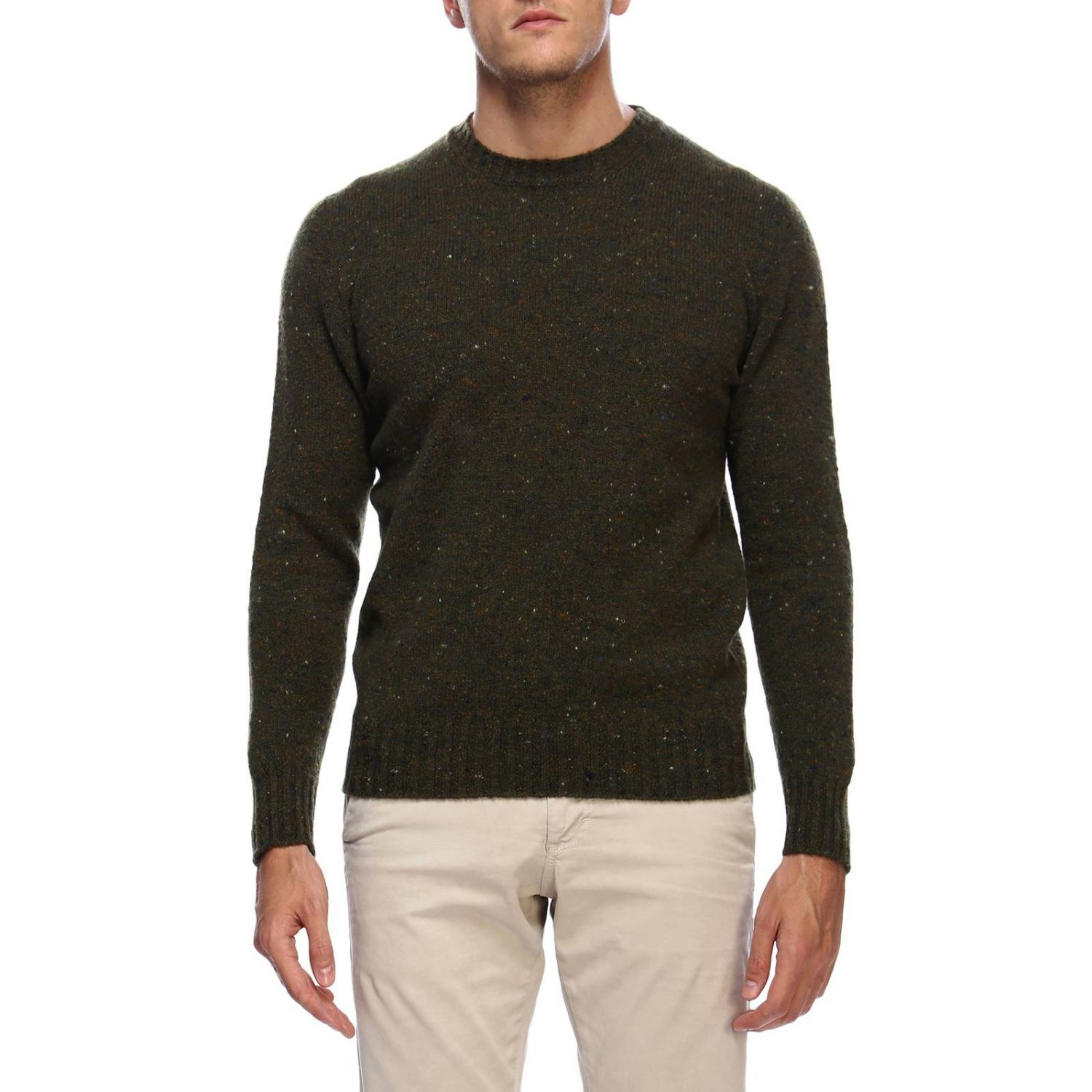Perry Ellis Mens Diamond Triangles Color block Intarsia V Neck Pullover Sweater